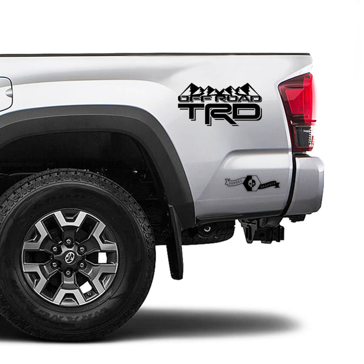 TRD 4x4 Off Road TOYOTA Forest Mountains Decals Stickers for Tacoma Tundra 4Runner Hilux side