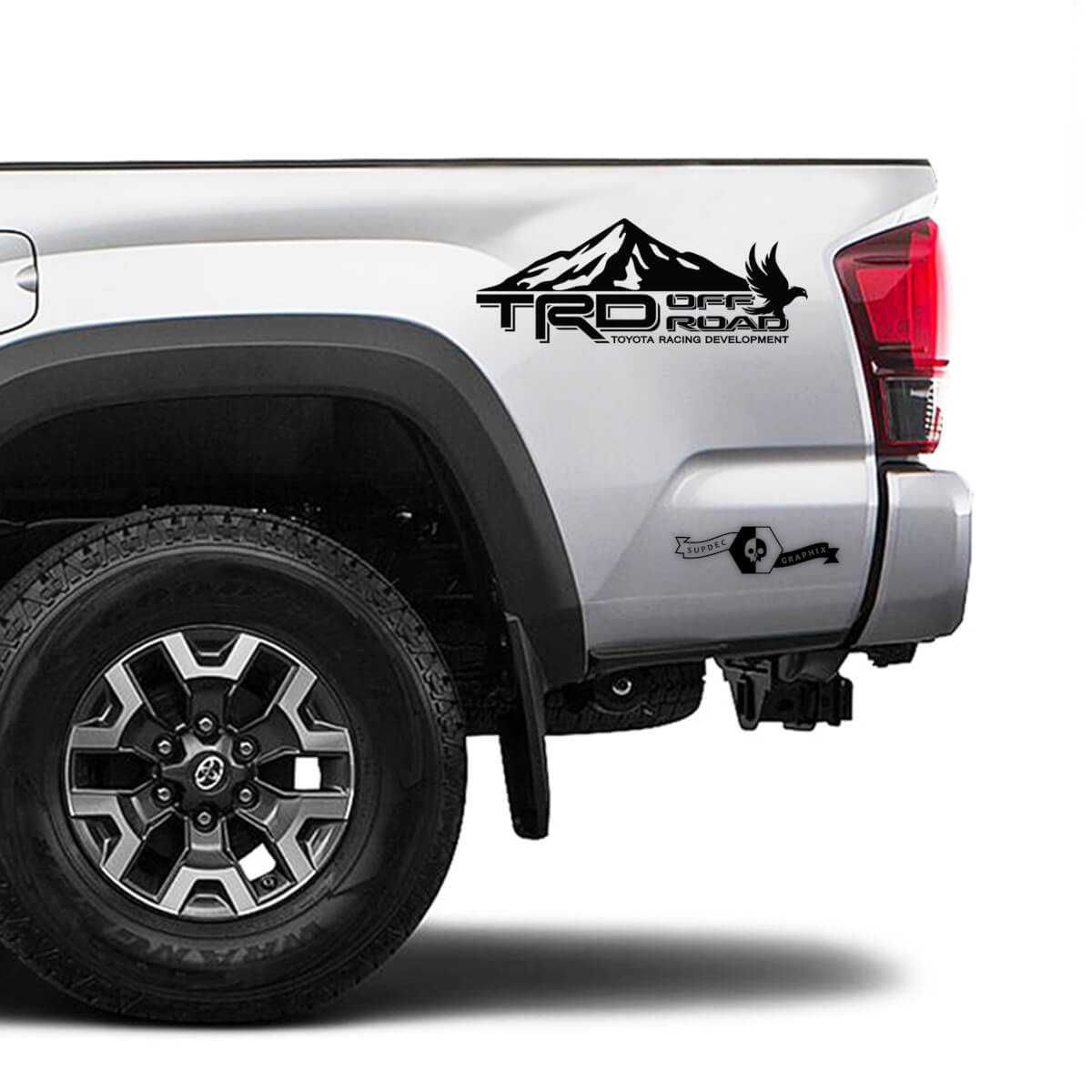 TRD Off Road TOYOTA Snow Mountain Eagle Decals Stickers for Tacoma Tundra 4Runner Hilux