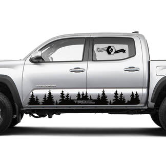 TRD Off Road TOYOTA Fores Trees Decals Stickers for Tacoma Tundra 4Runner Hilux Rocker Panel