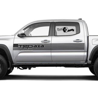 TRD Off Road TOYOTA USA Flag stripes Decals Stickers for Tacoma Tundra 4Runner Hilux Doors