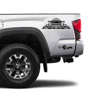 TRD 4x4 Off Road TOYOTA Mountains Sunrise Decals Stickers for Tacoma Tundra 4Runner Hilux side