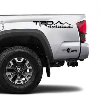 TRD 4x4 Off Road TOYOTA Field Forest Mountains Decals Stickers for Tacoma Tundra 4Runner Hilux side