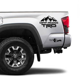 TRD 4x4 Off Road TOYOTA Mountains Decals Stickers for Tacoma Tundra 4Runner Hilux doors