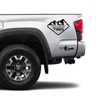 TRD 4x4 Off Road TOYOTA Mountains Decals Stickers for Tacoma Tundra 4Runner Hilux side