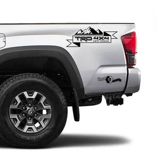 TRD 4x4 Off Road TOYOTA Mountains Pine Trees Forest Decals Stickers for Tacoma Tundra 4Runner Hilux side