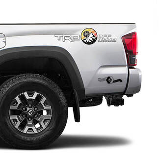 TRD Off Road Sunrise Vintage TOYOTA Mountains Compass Decals Stickers for Tacoma Tundra 4Runner Hilux