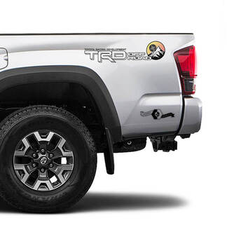 Pair of TRD Off Road Sunrise Vintage TOYOTA Mountains Compass Decals Stickers for Tacoma Tundra 4Runner Hilux