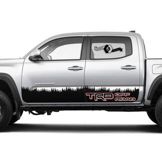 TRD Off Road  Rocker Panel Mountain  Vinyl Stickers TOYOTA Decals Stickers for Tacoma Tundra 4Runner Hilux