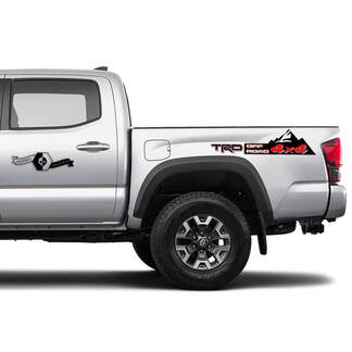 TRD Off 4x4 Road Side Mountain  Vinyl Stickers TOYOTA Decals Stickers for Tacoma Tundra 4Runner Hilux
