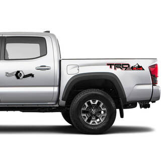 TOYOTA TRD Off 4x4 Road Side Mountain Vinyl Stickers Decals Stickers for Tacoma Tundra 4Runner Hilux