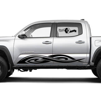 TRD Off Road TOYOTA Flame stripes Decals Stickers for Tacoma Tundra 4Runner Hilux Doors