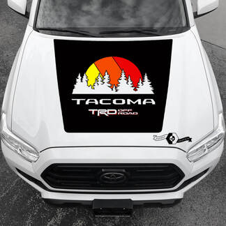 Tacoma TRD Sunrise Vintage TOYOTA Forest Hood Decals Stickers for Tacoma Tundra 4Runner Hilux