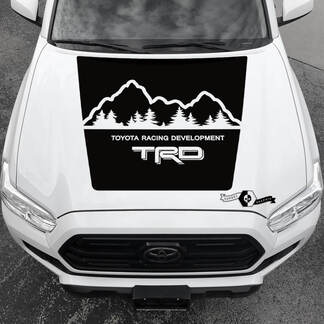 Tacoma TRD TOYOTA Mountains Forest Hood Decals Stickers for Tacoma Tundra 4Runner Hilux
