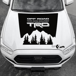 Tacoma TRD TOYOTA Mountains Forest Off Road Hood Decals Stickers  for Tacoma Tundra 4Runner Hilux