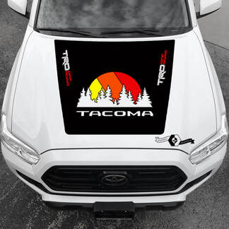 Tacoma TRD Sunrise Vintage TOYOTA Forest Off Road Hood Decals Stickers for Tacoma Tundra 4Runner Hilux