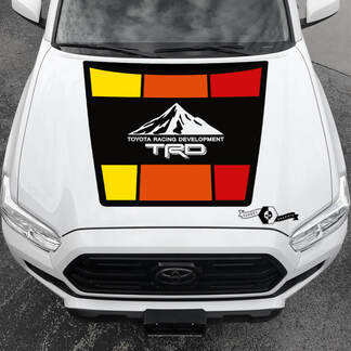 Tacoma TRD Sunrise Vintage TOYOTA Mountains Peak Summit Hood Decals Stickers for Tacoma Tundra 4Runner Hilux