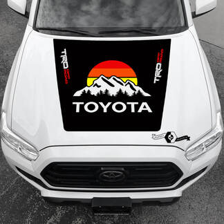 Tacoma TRD Sunrise Vintage TOYOTA Mountain Forest Off Road Hood Decals Stickers for Tacoma Tundra 4Runner Hilux