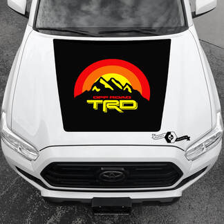 TRD Tacoma Sunrise TOYOTA Off Road Mountains Peak Summit Hood Decals Stickers for Tacoma Tundra 4Runner Hilux