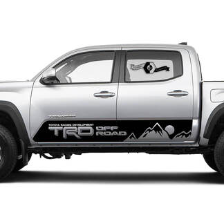 TRD Off Road TOYOTA Mountains Sun Moon stripes Decals Stickers for Tacoma Tundra 4Runner Hilux Doors