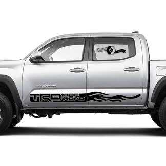 TRD Off Road TOYOTA Flame Drops stripes Decals Stickers for Tacoma Tundra 4Runner Hilux Doors