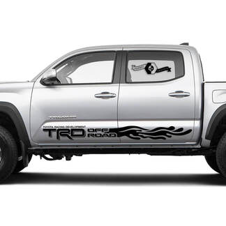 TRD Off Road TOYOTA Waves Drops stripes Decals Stickers for Tacoma Tundra 4Runner Hilux Doors