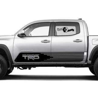 TRD TOYOTA Srtobe stripes Decals Stickers for Tacoma Tundra 4Runner Hilux Doors