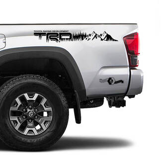 TRD 4x4 Off Road TOYOTA Fit Forest Mountains Decals Stickers for Tacoma Tundra 4Runner Hilux side