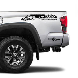 TRD 4x4 Off Road TOYOTA Forest Mountains Decals Stickers fit Tacoma Tundra 4Runner Hilux side