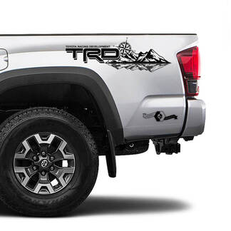 TRD 4x4 Off Road TOYOTA Forest Mountain Compass Wind Rose Decals Stickers for Tacoma Tundra 4Runner Hilux side
