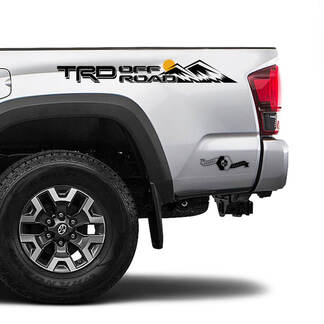 TRD 4x4 Off Road TOYOTA  Colour Sun Moon Mountains Decals Stickers for Tacoma Tundra 4Runner Hilux side