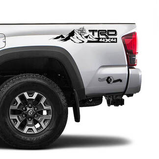 TRD 4x4 Off Road TOYOTA  Mountain Compass Wind Rose Decals Stickers for Tacoma Tundra 4Runner Hilux side