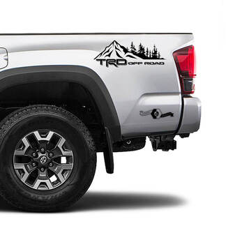 TRD 4x4 Off Road TOYOTA Forest Mountain Decals Stickers for Tacoma Tundra 4Runner Hilux side