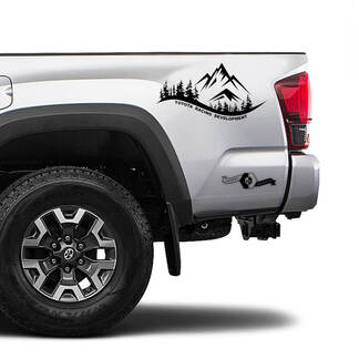 TRD TOYOTA Mountain Forest Decals Stickers for Tacoma Tundra 4Runner Hilux side