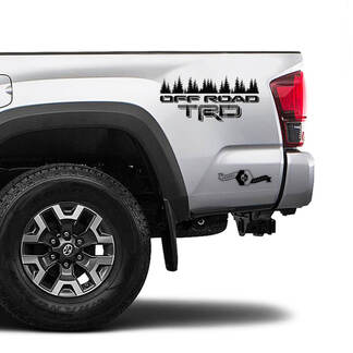 TRD Off Road TOYOTA Forest 2 Colour Mountain Decals Stickers for Tacoma Tundra 4Runner Hilux side