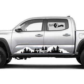 TRD TOYOTA Mountains Decals Stickers for Tacoma Tundra 4Runner Hilux Rocker Panel