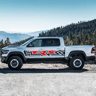 New Pair Dodge Ram Rebel TRX 2021+ Side Splash Stripes door Strobe Vinyl Stickers Decals 2 colors